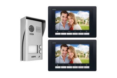 Wideodomofon cyfrowy 2-rodzinny Eura 77-249
