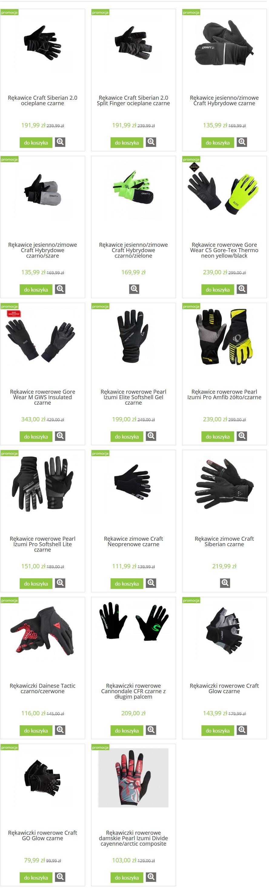 Rękawiczki rowerowe w sklepie ThirtyThree.pl