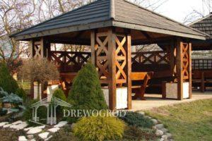 Drewniana altana ogrodowa Pruski Mur od Drewogrod