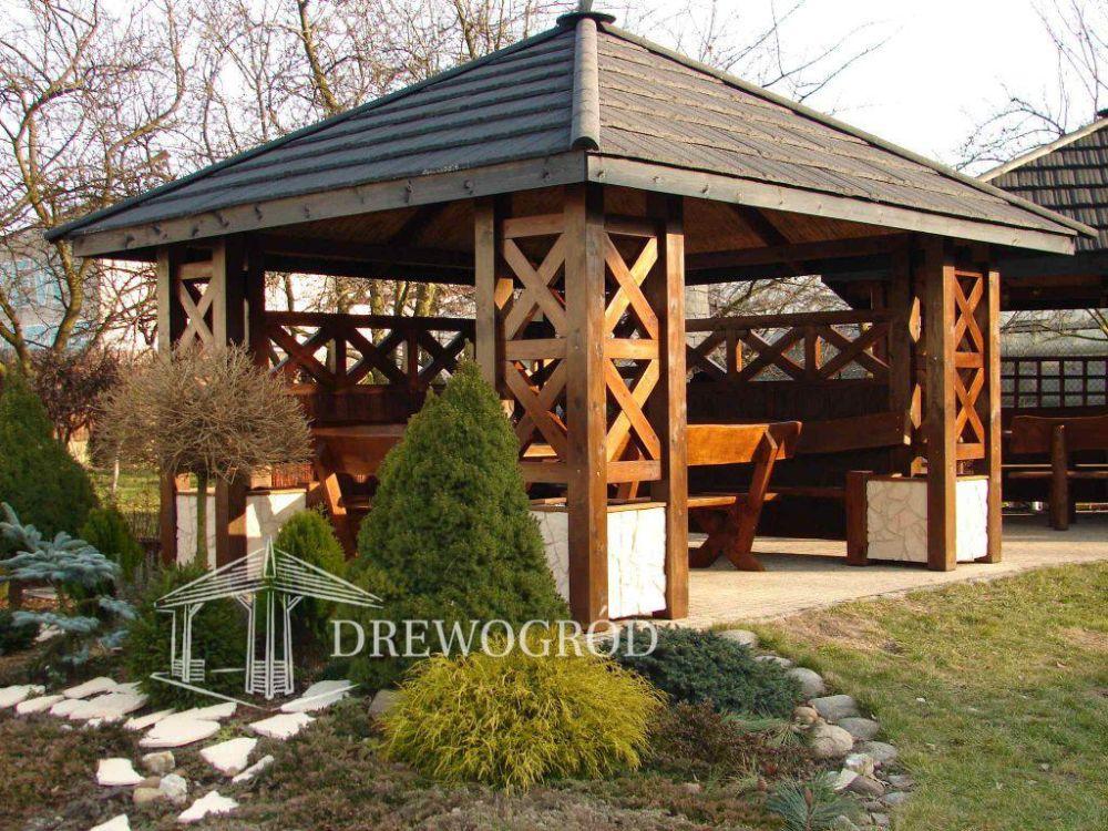 Drewniana altana ogrodowa od Drewogród Częstochowa