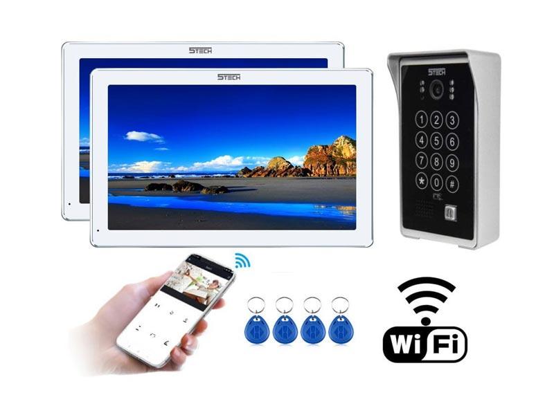 Wideodomofon IP 5tech dwa monitory VERUS czytnik szyfrator ekran IPS 10